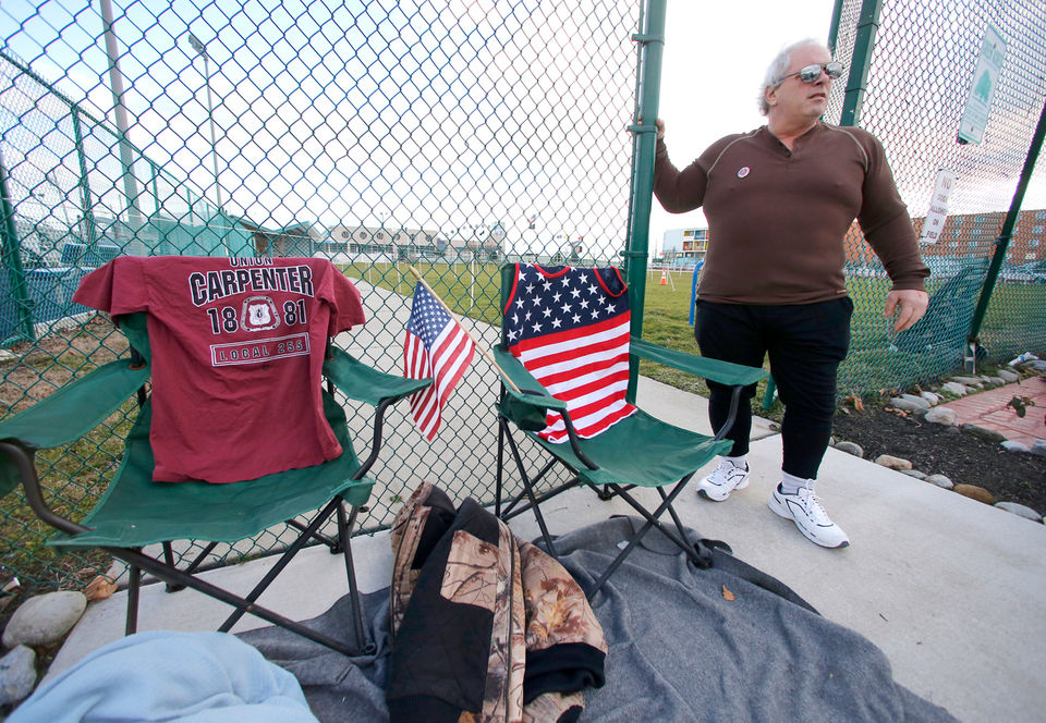 Fans already camping out, vendors setting up for Trump's rally in Wildwood