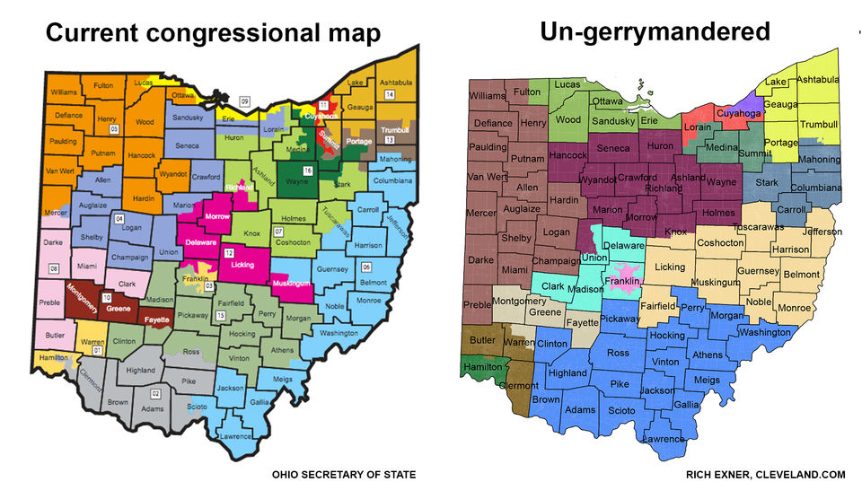 Federal Judges Toss Out Ohios Congressional Map As Illegal - Map-of-us-voting-districts