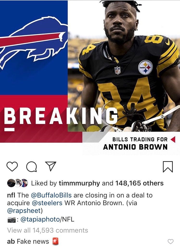 Antonio Brown Traded To The Bills Twitter Reacts To