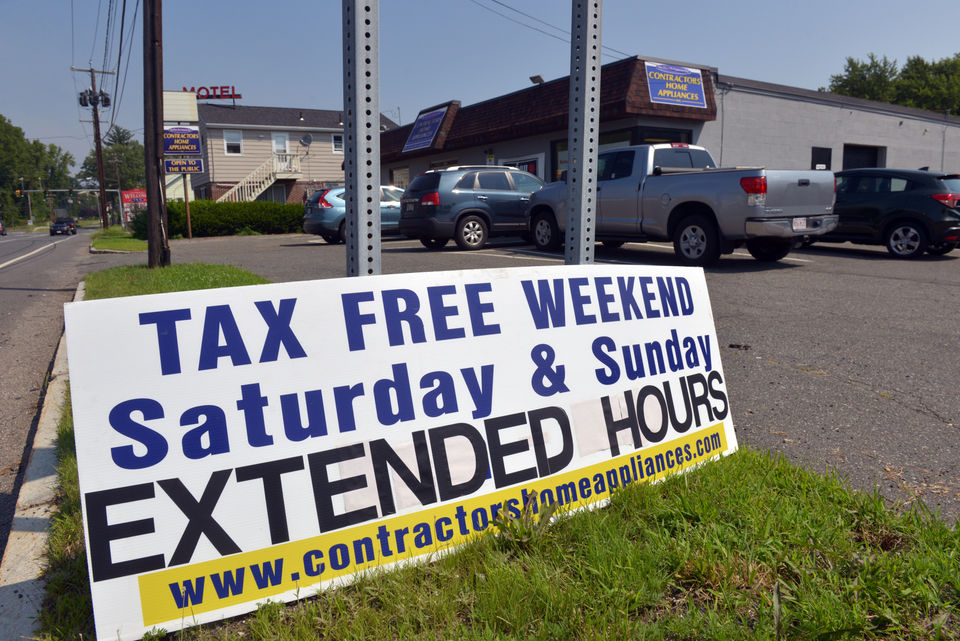 are tires tax free on tax free weekend