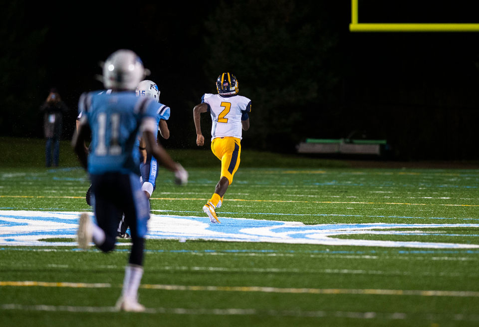 Larry Robinson runs into the state record books as Saline blows by Skyline
