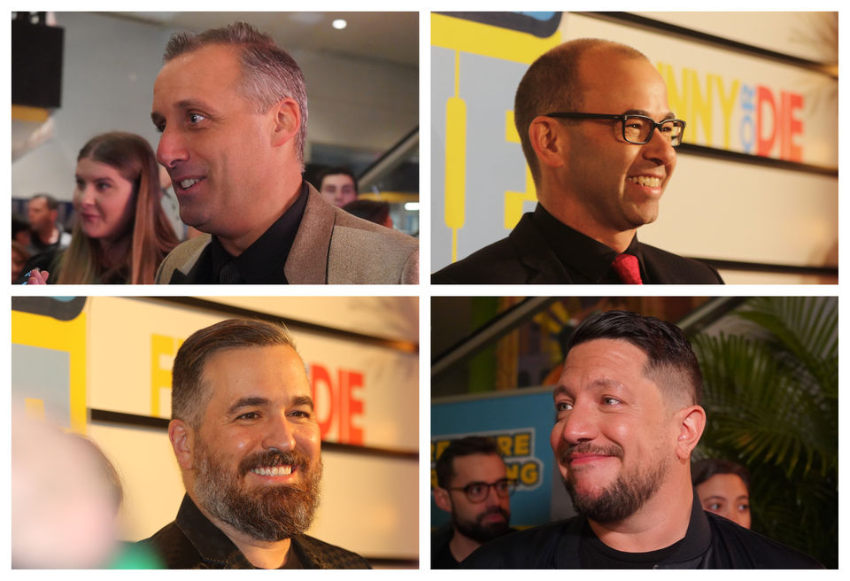 The Impractical Jokers hit the red carpet at the premiere of their movie in NYC