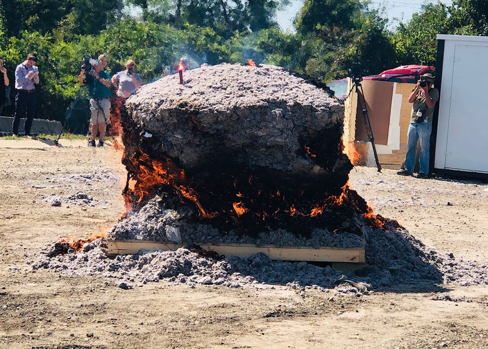 Michigan sets Guinness World Record for largest lint ball: Watch it burn to ashes