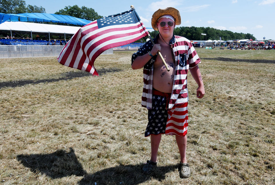 It's all about the red, white and blue at the Faster Horses Festival
