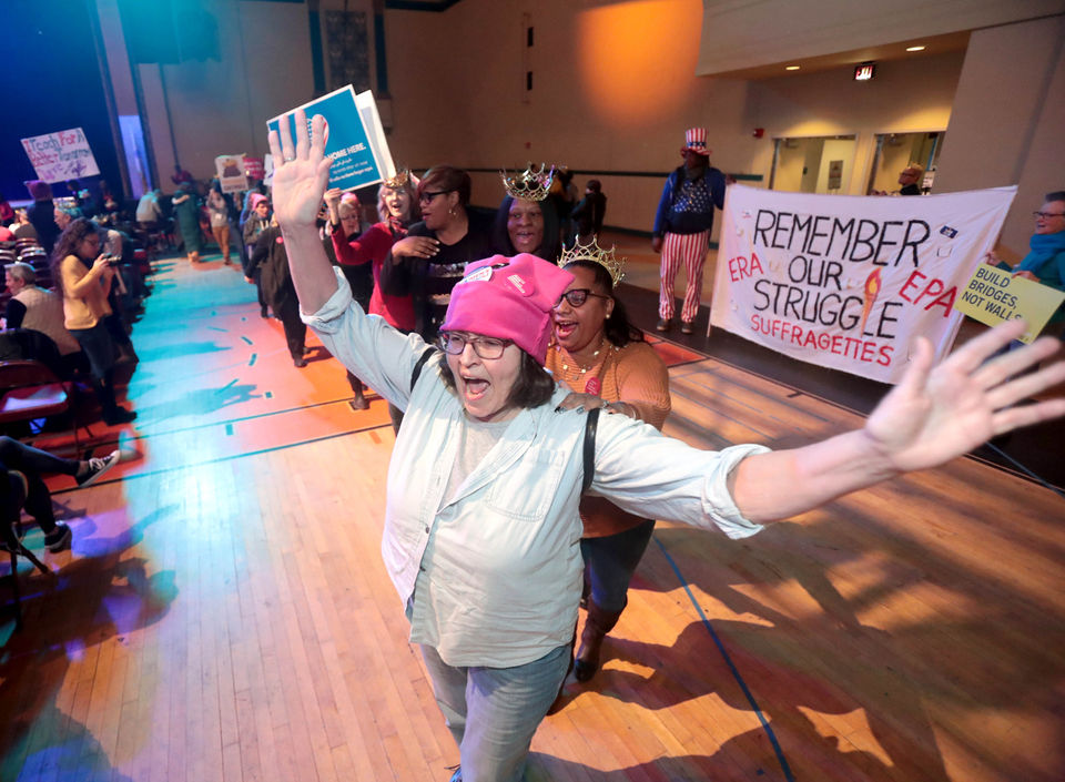 Woman's march in Atlantic City goes indoors due to weather (PHOTOS)