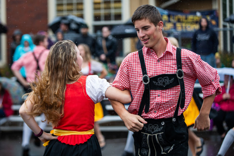 Photos from 54th Mount Angel Oktoberfest: Drenched lederhosen dances in the rain