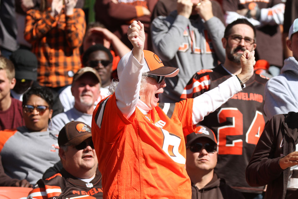 See fans in the stands at the Browns vs. Seahawks game (Photos)
