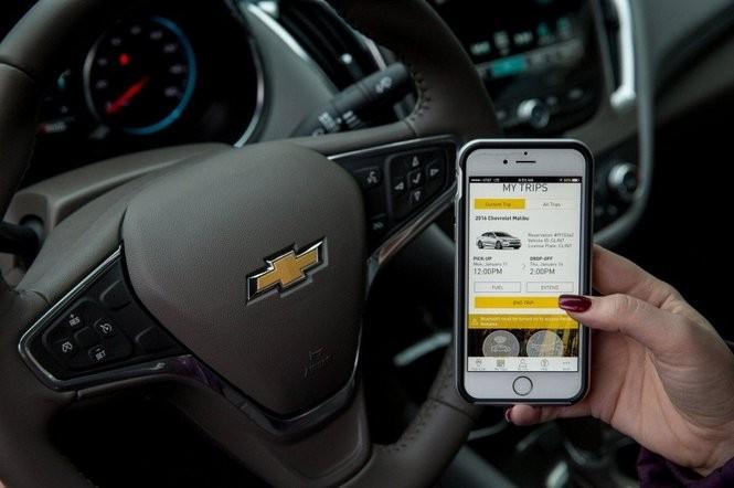 GM's Maven car-sharing mobile application