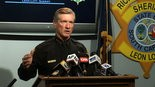 Richland County Sheriff Leon Lott speaks during a news conference regarding Deputy Ben Fields in Columbia, S.C., Wednesday, Oct. 28, 2015. Fields, who flipped a disruptive student out of her desk and tossed her across her math class floor was fired. (AP Photo/Alex Sanz)