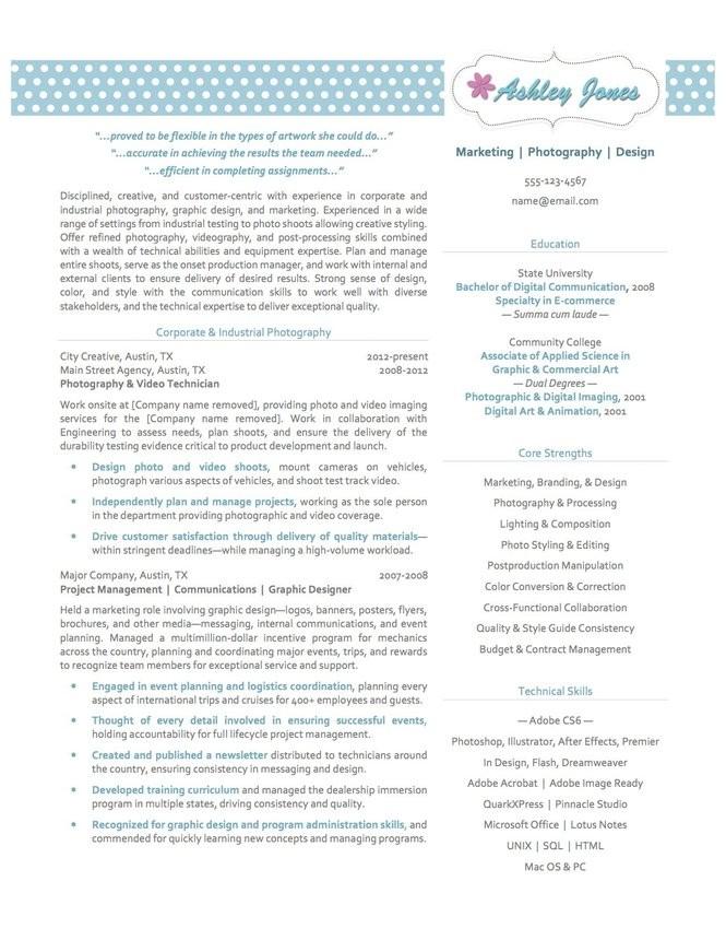 How to design a creative resume - pennlive com
