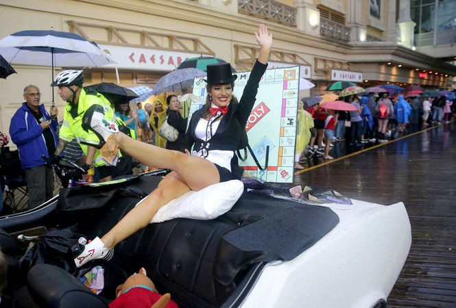 Lindsey Giannini, Miss New Jersey, in her Monopoly-themed ensemble. (Tim Hawk | For NJ.com)