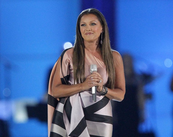 Vanessa Williams, Miss America 1984 and the head judge for the 2016 pageant, sings during competition at Boardwalk Hall. (Tim Hawk | For NJ.com)