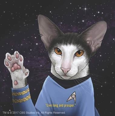 """Star Trek Cats"", Spock, interior art"