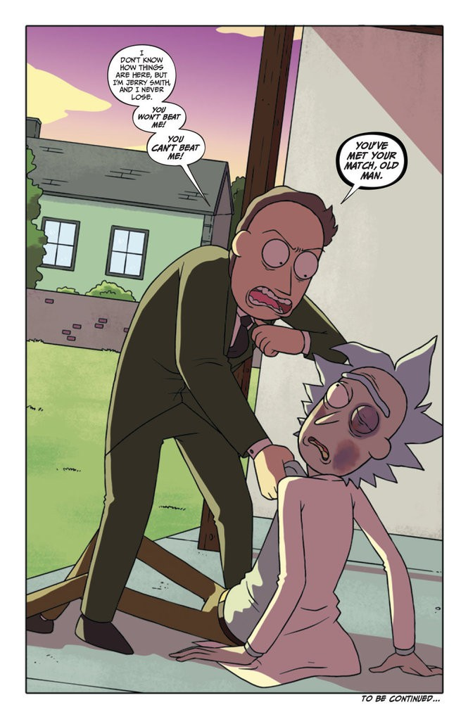 """""""Rick and Morty"""" #21. Illustrated by CJ Cannon. Colored by Katy Farina."""