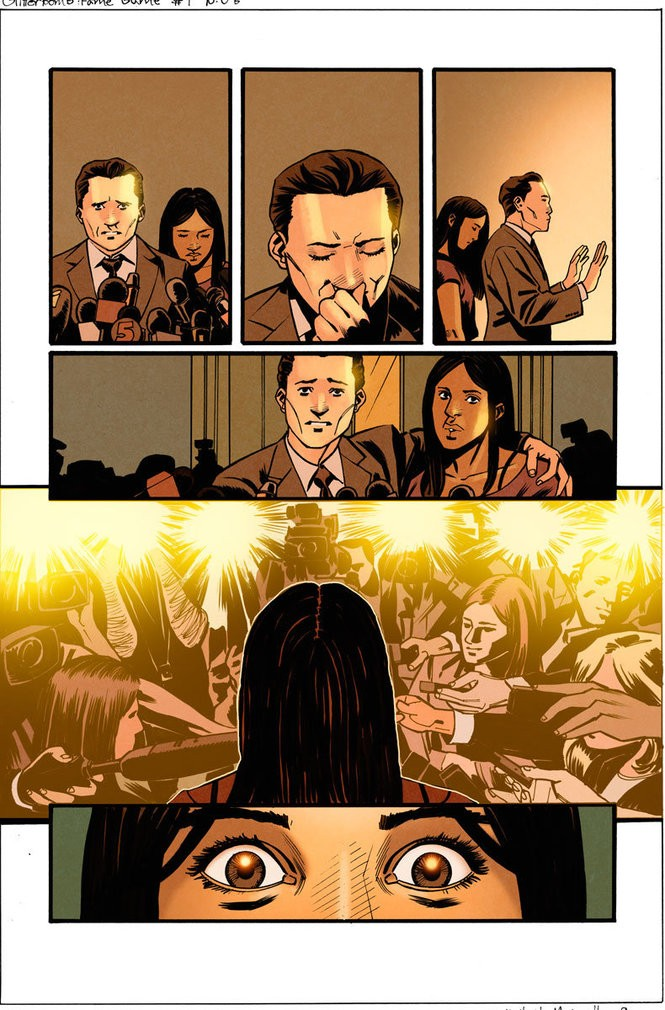 """Glitterbomb: The Fame Game"" #1, unlettered interior art"