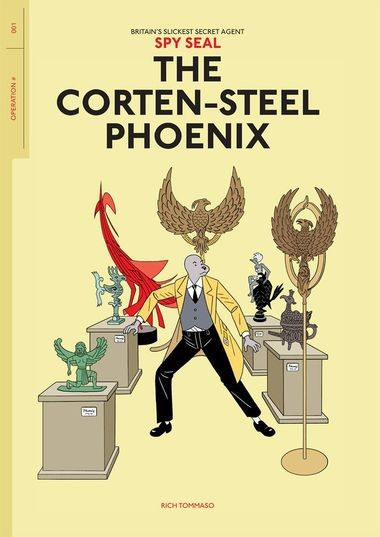 """Spy Seal: The Corten-Steel Phoenix,"" cover"