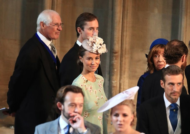 Pippa Middleton and her husband, James Matthews, arrive at St. George's Chapel at Windsor Castle for the wedding of Prince Harry to Meghan Markle on May 19, 2018 in Windsor, England. (Danny Lawson - WPA Pool/Getty Images)