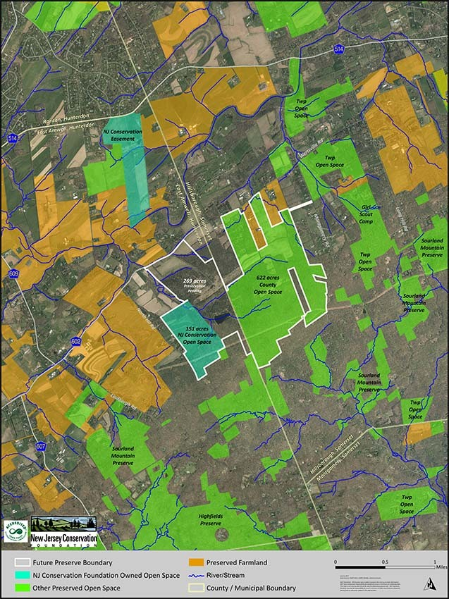 A map showing269 acres which the New Jersey Conservation Foundation has secured an option to purchase. (courtesy image)