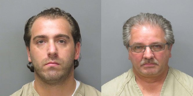Anthony A. Innarella, 32, of Bethlehem, Pa., (left) and his father, Anthony C. Innarella, 60, of Kunkletown, Pa., allegedly used people's identities without their consent to obtain New Jersey Certificates of Trade Names, Somerset County Prosecutor's Office Prosecutor Michael H. Robertson said on Aug. 4, 2017. (courtesy photo)