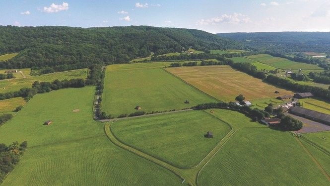 Hidden River Equine Farm, a former 144-acre equestrian center in the Musconetcong River Valley, will be offered at a public auction on Sept. 27, 2017. (courtesy photo)