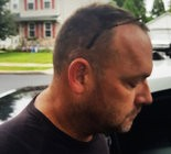 Fugitive David A. Hamilton Jr., 47, of Bucks County, is taken into custody Sept. 28, 2018, in Aston, Delaware County, following a nine-day manhunt. He is charged in the rape of two young girls and, while he was on the run, assaulting a police officer. (Courtesy photo | For lehighvalleylive.com)