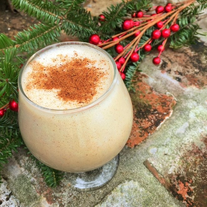 If you're looking for a nutritious eggnog option, this Eat Fit Eggnog (with egg yolks or vegan) is a low-sugar, low-calorie eggnog that still offers a rich flavor and texture. (Photo by Emily Van Eck)