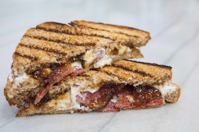 Goat cheese and bacon grilled cheese. (Photo by Teddie Taylor)