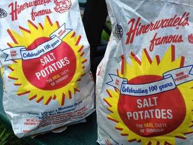 """Hinerwadel's Salt Potatoes are among the better known foods that Chuck D'Imperio profiles in his book, """"A Taste of Upstate New York."""""""