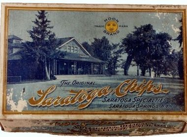 A 19th Century box of Saratoga Chips.