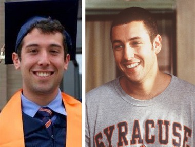 "Max Kessler, a 23-year-old Syracuse University alumnus, has often been told he looks like Adam Sandler, who played an SU grad when he was Kessler's age in the 1999 movie ""Big Daddy."""