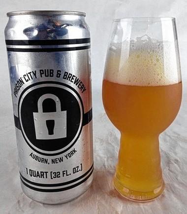 Mass Riot IPA from Auburn's Prison City Pub & Brewery