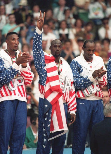 In 1992, the USA sent a team of NBA stars, including Scottie Pippen, Michael Jordan and Clyde Drexler, to the Olympics.