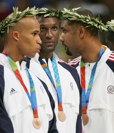In the 2004 Olympics, a team of NBA players, including Richard Jefferson, Lamar Odom and Tim Duncan, wound up with the bronze medal.