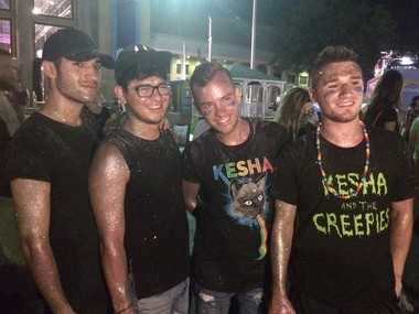 Glitter-caked Kesha fans pose for photos after her NYS Fair concert on Thursday, Aug. 25 at Chevy Court.