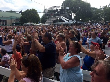A large crowd filled Chevy Court for Air Supply on Sunday, Aug. 28 at the NYS Fair.
