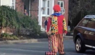 A creepy clown sighted in the Capital Region.