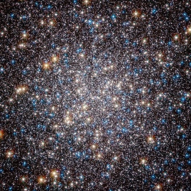The center of M13 through the Hubble Space Telescope.