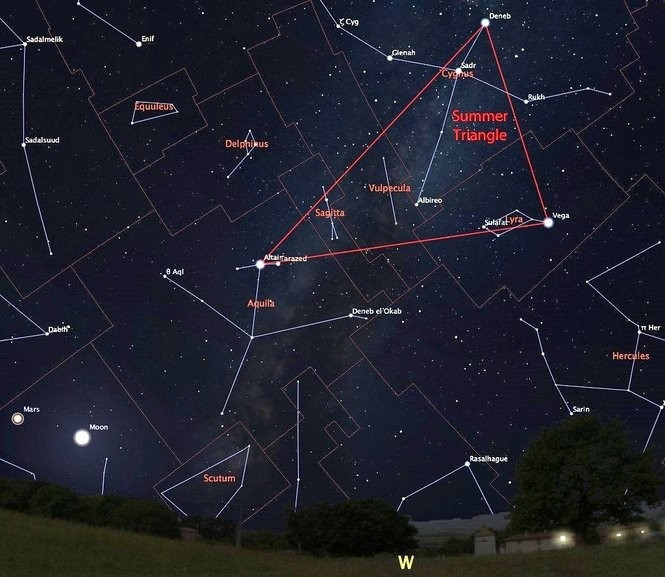 The last good month for seeing the Summer Triangle.