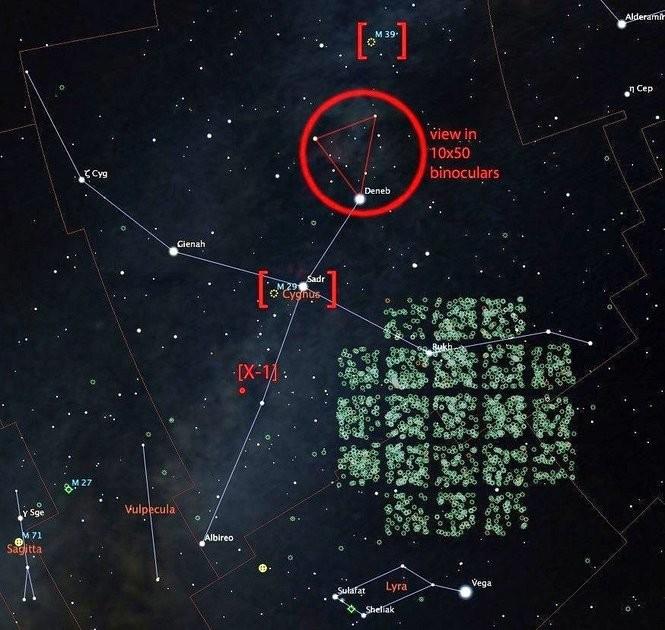 Cygnus and surroundings.