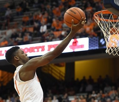 Frank Howard during an exhibition game against Le Moyne on Tuesday, Nov. 8, 2016, at the Carrier Dome.