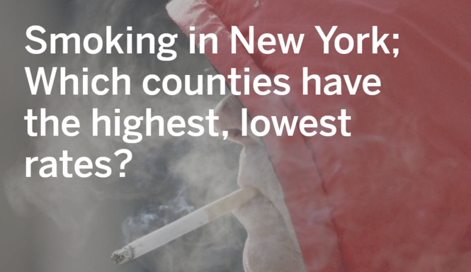 Smoking in New York: Which counties have the highest, lowest