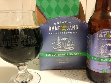 Lovely, Dark and Deep, a winter ale from Brewery Ommegang