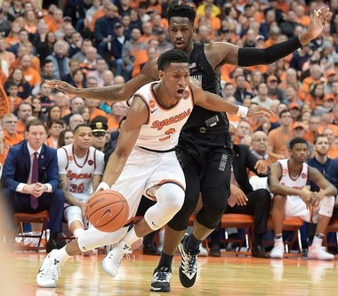 Syracuse's Andrew White against Georgetown at the Carrier Dome on Saturday Dec. 17, 2016. (Stephen D. Cannerelli | scannerelli@syracuse.com)