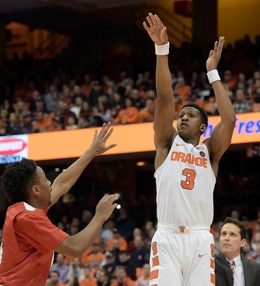 Syracuse's Andrew White against Cornell on Tuesday, Dec. 27, 2016 at the Carrier Dome. (Stephen D. Cannerelli | scannerelli@syracuse.com)