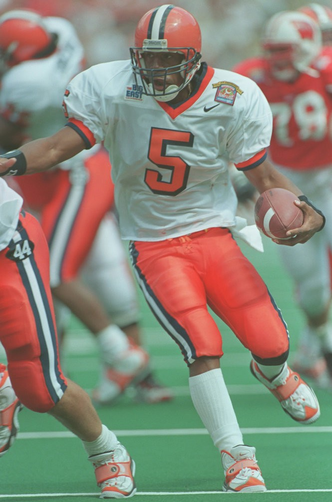 los angeles 763dc b542c Ranking the 12 best Syracuse football uniforms through the ...