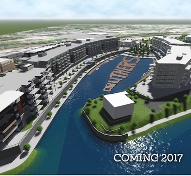Druthers Brewing Co. posted this image on its Facebook page. It shows the Mohawk Harbor and Rivers Casino & Resort developments in Schenectady, where Druthers will open its third location.