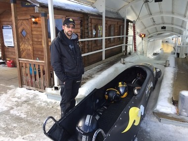 Bobsled driver Chris Ledwith said the sled gets up to speeds of 55 mph for the tourist rides.