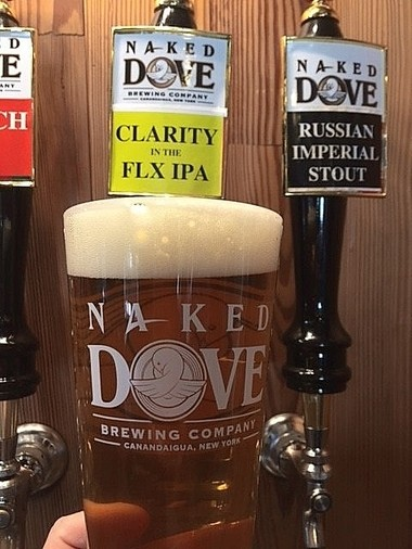 Clarity in the FLX IPA, a new 'New England-style' India Pale Ale from Naked Dove Brewing Co. in Canandaigua.