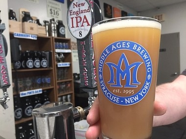 "Single Batch #8, a 'New England-style"" India Pale Ale from Middle Ages Brewing Co. in Syracuse."