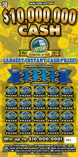 $10M scratch-off ticket: How many grand prizes left after